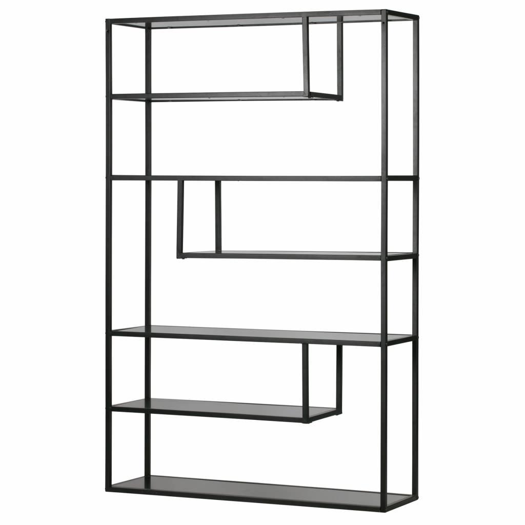 lef collections vakkenkast teun zwart metaal 190x120x35cm. Black Bedroom Furniture Sets. Home Design Ideas