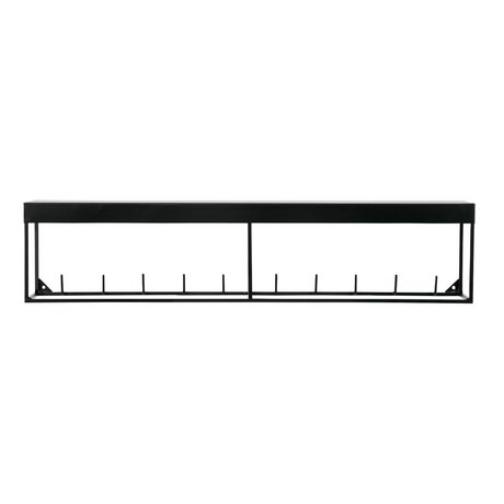 LEF collections Kapstop 6 Absätze Meert black metal 16x50x3,5cm - Copy