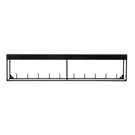 LEF collections Kapstop Meert met bovenplank zwart metaal 20x90x20cm