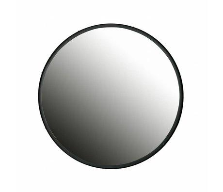 LEF collections Lauren miroir métal noir 60x60x4cm