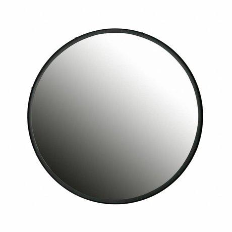 LEF collections Mirror Lauren black metal 60x60x4cm