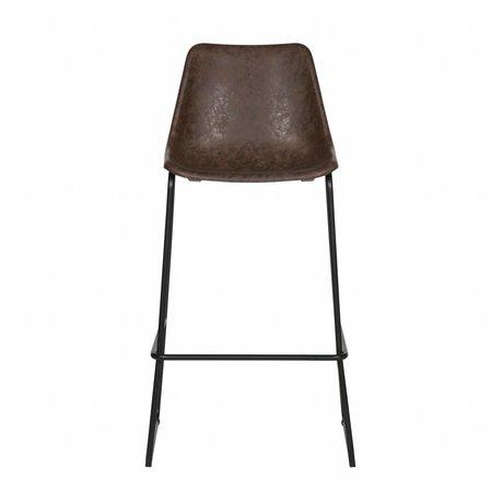 LEF collections Bliss barres Chaise en plastique noir 53x52x75cm - Copy - Copy - Copy - Copy