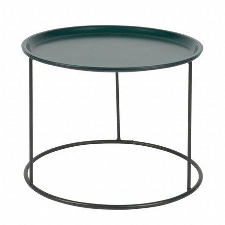 LEF collections Table d'appoint Ivar L essence métal bleu 37,5x56x56cm