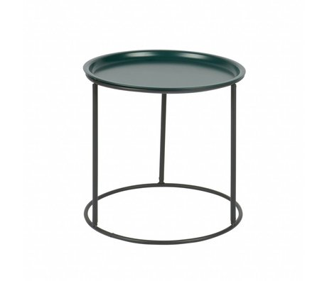 LEF collections side table ivar M petrol blue metal 43x40x40cm