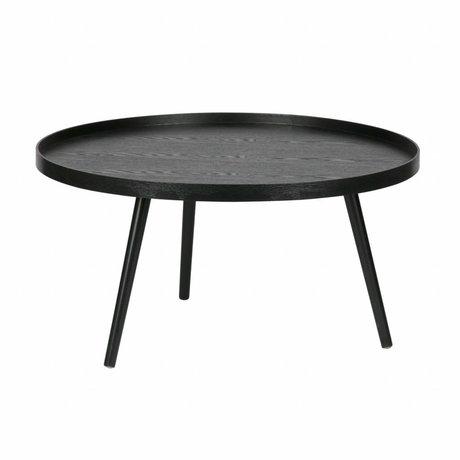 LEF collections Side Table Mesa XL bois noir ø78x39cm