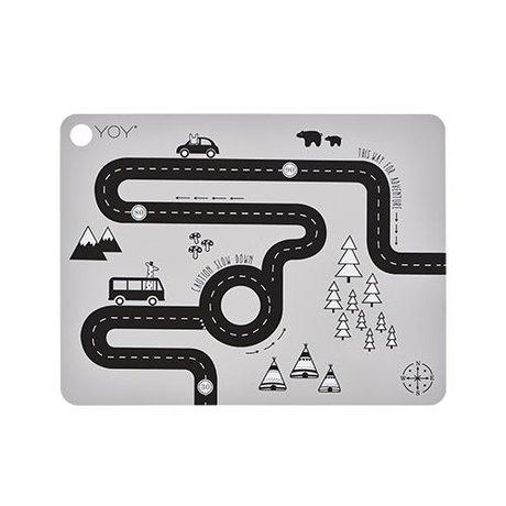 OYOY Napperon Adventure 45x34x0,15cm silicone gris