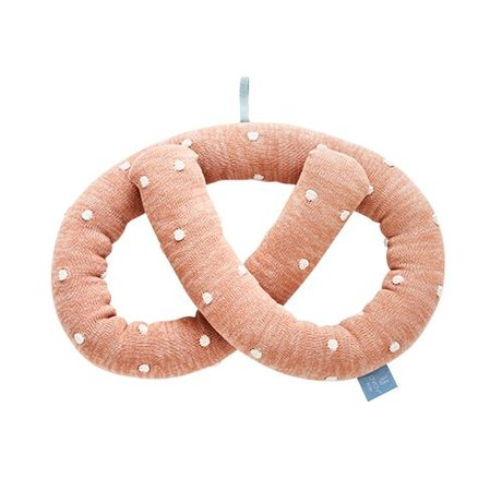 OYOY Kussen Sweet pretzel roze katoen 28x8x33cm