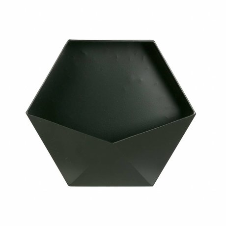 LEF collections Wanddeco Puck L black metal 30,5x35x13,5cm