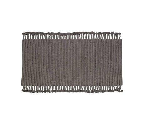 LEF collections Vloerkleed Mink vloerkleed antraciet grijs katoen 170x240cm