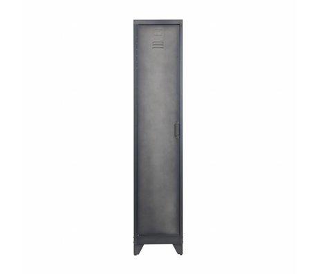 LEF collections Lockerkast Cas 1 deur zwart metaal 180x38x45,5cm