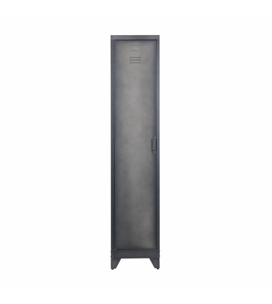 Schwarzes Metall lef collections locker cas 1 tür schwarzes metall 180x38x45 5cm