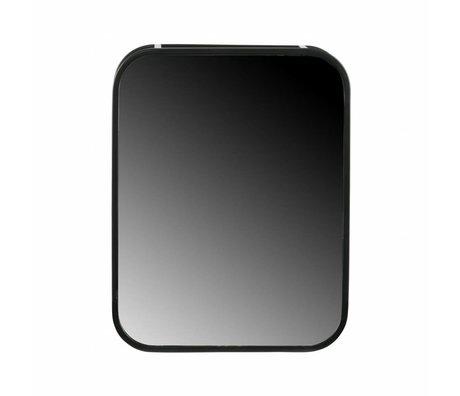 LEF collections Mirror cabinet Olivia black metal 45x35x12cm
