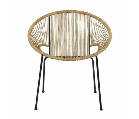 LEF collections Fauteuil / chaise de jardin Cocktail naturel marron 65x69x73cm