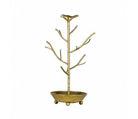 BePureHome Porte bijoux métal or antique laiton déco 40x25x25cm