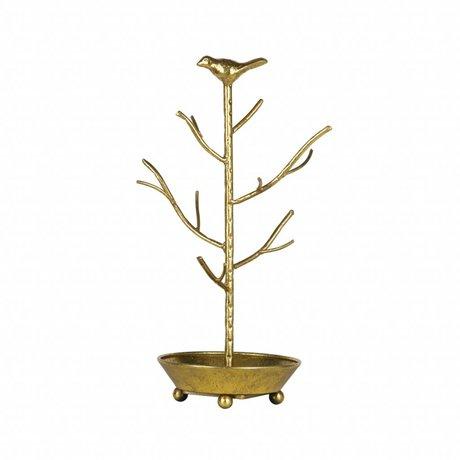 BePureHome Sieradenhouder deco antiek brass goud metaal 40x25x25cm