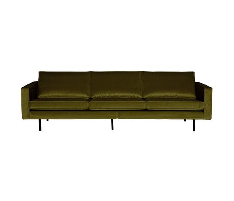 BePureHome Banque Rodeo 3 sièges velours velours vert olive 85x277x86cm