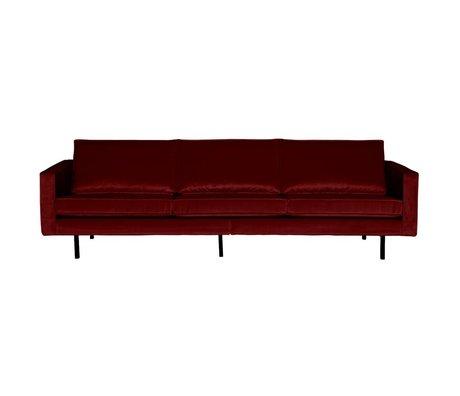 BePureHome Sofa Rodeo 3-seater red velvet velvet 85x277x86cm