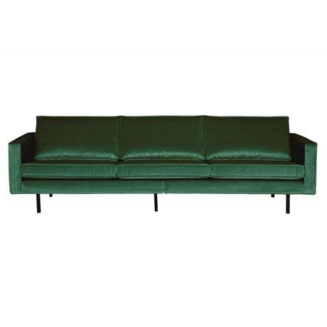 BePureHome Sofa Rodeo 3-seater Green Forest green velvet velvet 85x277x86cm