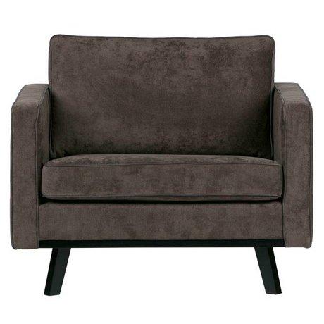 BePureHome Fauteuil rebelle brossé polyester bois brun 85x105x86cm