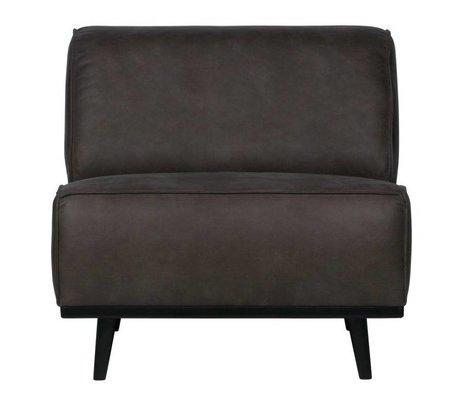 BePureHome Armchair gray eco leather 77x83x93cm