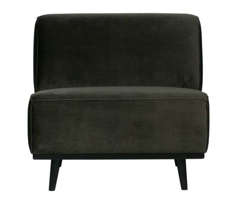 BePureHome Armchair warm green velvet 77x83x93cm