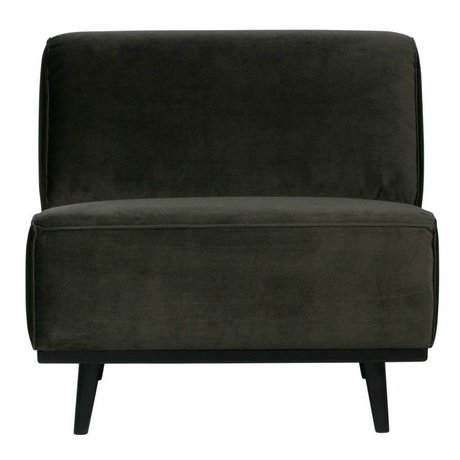 BePureHome Hot Sessel aus grünem Samt 77x83x93cm
