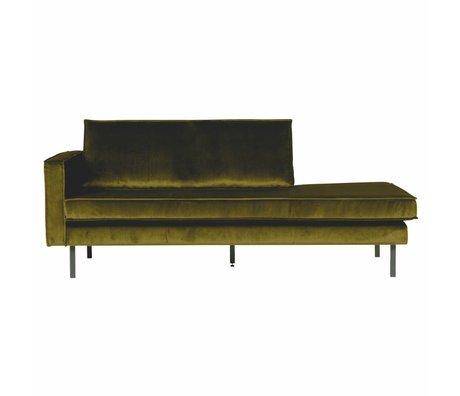 BePureHome Bank Daybed left olive green velvet velvet 203x86x85cm