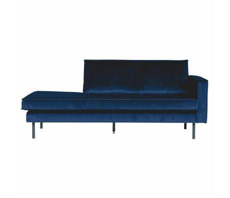 BePureHome Bank Daybed rechts Nightshade donker blauw fluweel velvet 203x86x85cm