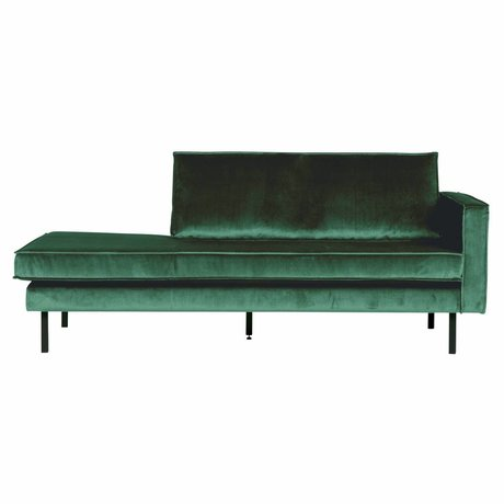 BePureHome Banque Daybed droit velours velours vert Green Forest 203x86x85cm
