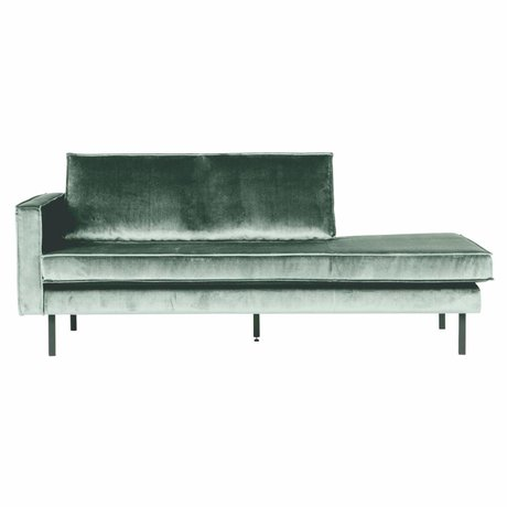 BePureHome Banque Daybed gauche velours velours vert menthe 203x86x85cm
