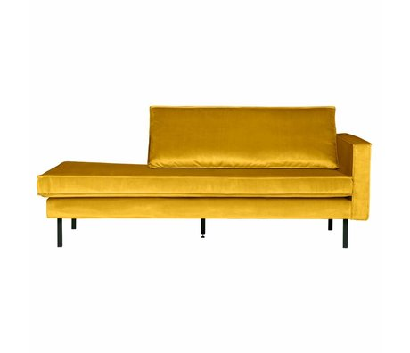 BePureHome Bank Daybed right ocher yellow velvet velvet 203x86x85cm
