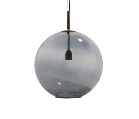 BePureHome Hanglamp Bold large gray glass Ø40cm