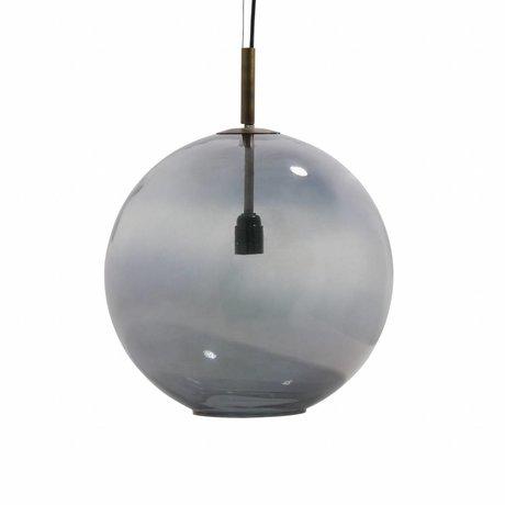 BePureHome Bold große Anhänger hellgrau Glas Ø40cm