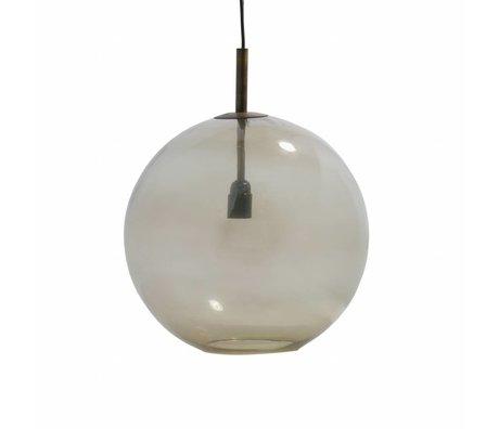 BePureHome Hanglamp Bold large antiek brass goud glas Ø40cm