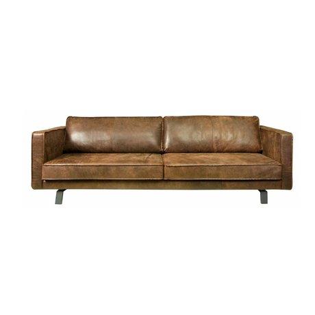 I-Sofa 2,5 places canapé Bjorn 202x96x82cm en cuir sable