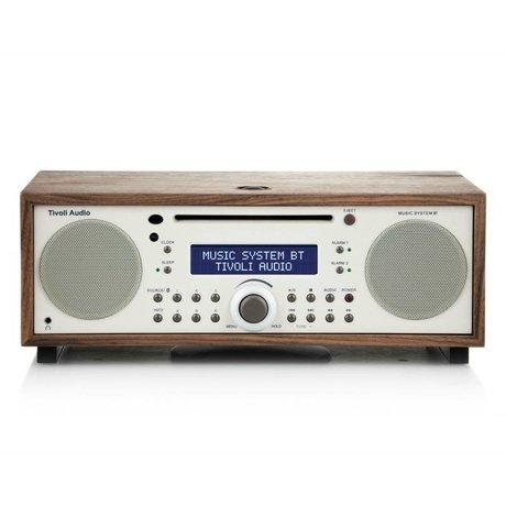 Tivoli Audio Radio Music System BT wit bruin hout 35,88x24,13x13,34cm