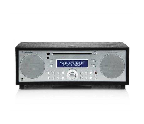 Tivoli Audio Radio Music System BT zilver zwart hout 35,88x24,13x13,34cm