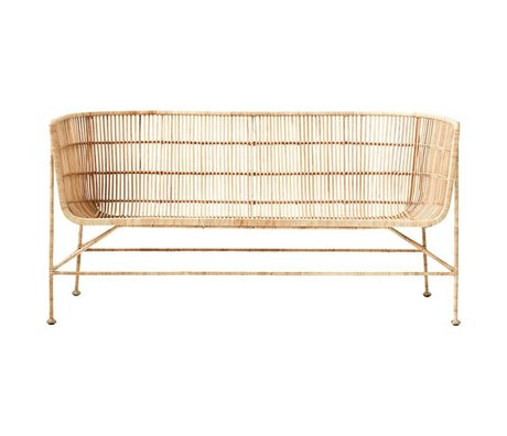 Housedoctor Bank Coon natural brown rattan 65.5x140x70cm