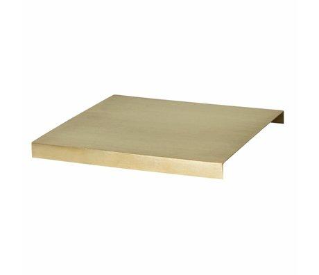 Ferm Living Tray Pflanze Box Gold-Metall-26x26x2.5cm