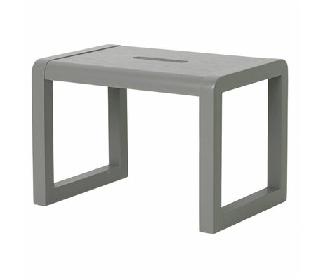 Ferm Living Stuhl kleiner Architekt grau Holz 33x23x23cm