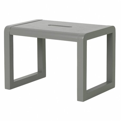 Ferm Living Chair Little Architect gray wood 33x23x23cm