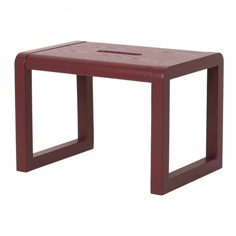 Ferm Living Chair Little Architect bordeaux red wood 33x23x23cm