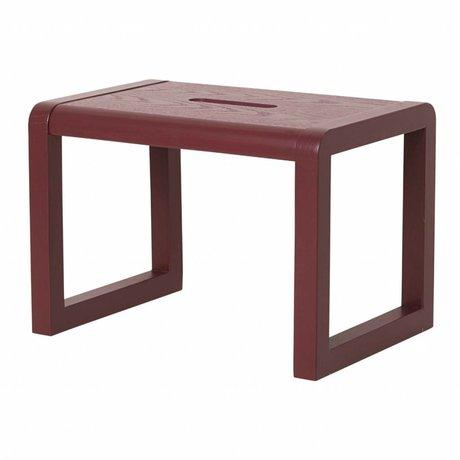 Ferm Living Stoel Little Architect bordeaux rood hout 33x23x23cm