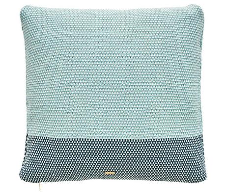 OYOY Sierkussen Koke Cushion blauw groen katoen 50x50cm