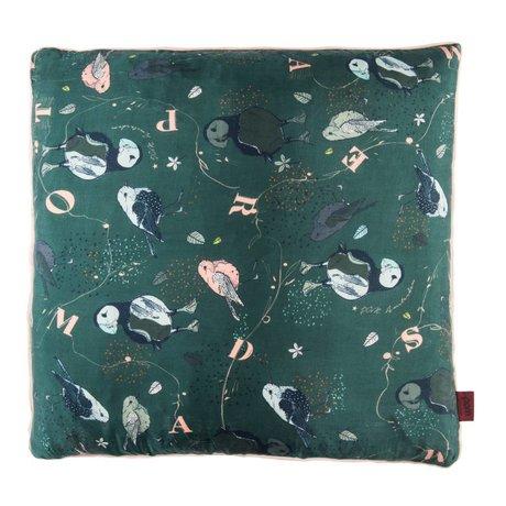 POM Amsterdam Kissen Ziemlich Puffin grün Textil 50x50cm