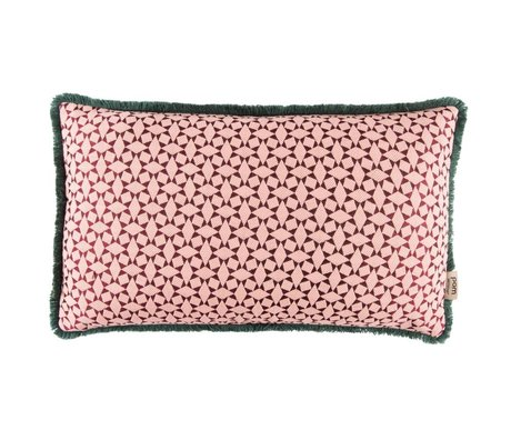 POM Amsterdam Ornamental Cushion Diamonds Pink Textile 30x50cm