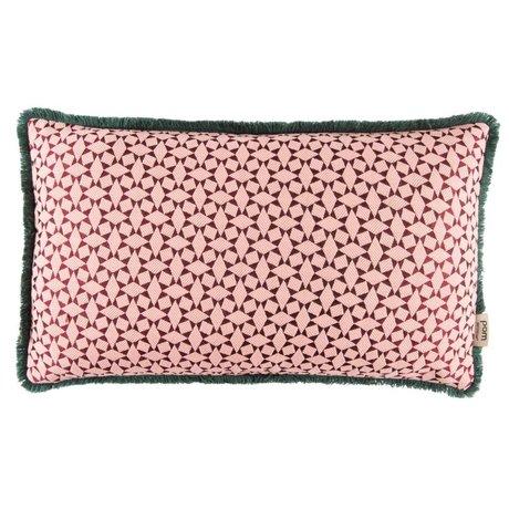 POM Amsterdam Sierkussen Diamonds roze textiel 30x50cm