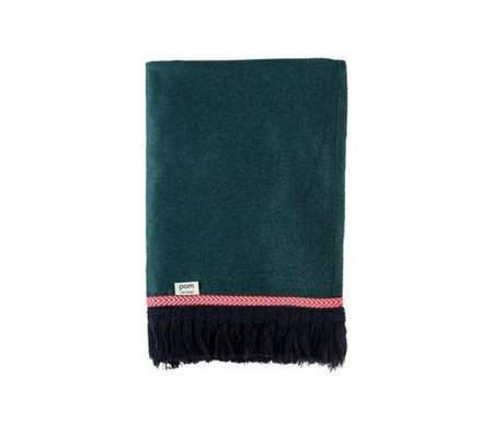 POM Amsterdam Plaid Soft Throw Uni green wool 150x120cm