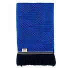 POM Amsterdam Plaid Royal Mousse Throw blauw wol 140x120cm