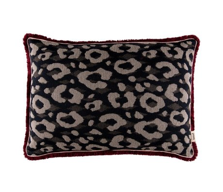 POM Amsterdam Kissen Leapard Anthrazit Textil 40x60cm